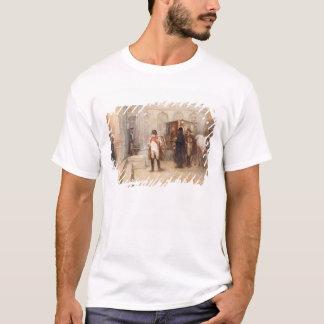 T-shirt Napoléon après Waterloo (huile sur la toile)