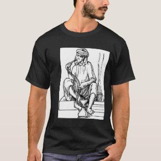 T-shirt Narguilé de tabagisme d'homme