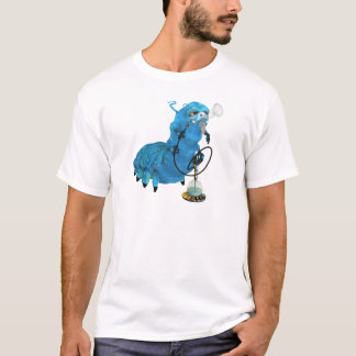 T-shirt Narguilé fumant Catterpillar bleu