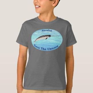 T-shirt Narwhal - sauvez la licorne