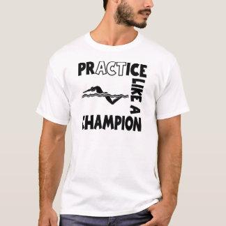 T-shirt Natation de pratique, noire