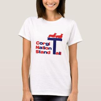T-shirt Nation de corgi - support grand