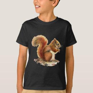 T-shirt Nature animale mignonne d'écureuil rouge
