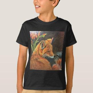 T-shirt nature d'art de main de peinture de peinture de