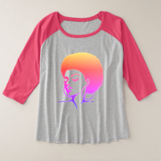 T-shirt naturel de cheveux (plus la taille)