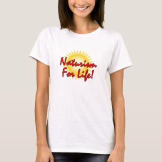 T-shirt Naturiste - naturisme pendant la vie