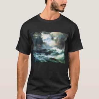 T-shirt Naufrage éclairé par la lune en mer