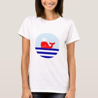 T-shirt nautique de style d'impression de baleine
