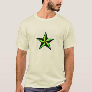 T-shirt nautique vert clair d'étoile