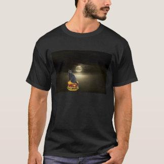 T-shirt Navigation sur un hamburger à la lune sur la brume