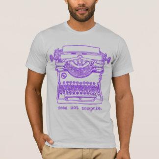 T-shirt Ne calcule pas (le pourpre)