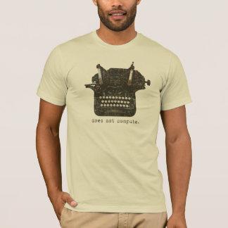 T-shirt Ne calcule pas les hommes de base