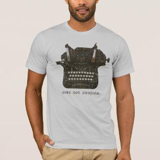 T-shirt Ne calcule pas organique de dames adapté