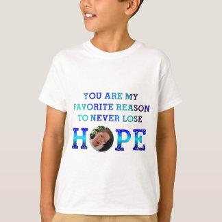 T-shirt Ne perdez jamais l'espoir - Casey D