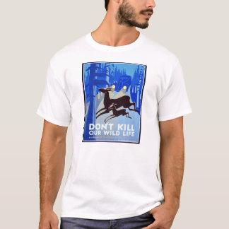 T-shirt Ne tuez pas notre affiche de WPA FAP de faune