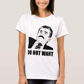 T-shirt Ne voulez pas Massimo ne veut pas
