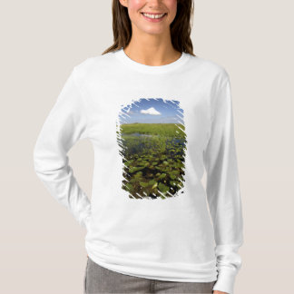 T-shirt Nénuphars et sawgrass dans des marais de la