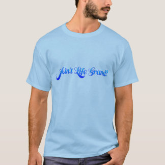 T-shirt N'est pas la vie grande (la police de Memoriam)