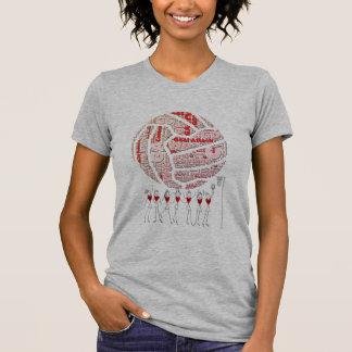 T-shirt Net-ball et conception de boule de positions