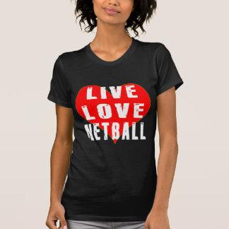 T-shirt Net-ball vivant d'amour