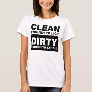 T-shirt Nettoyez assez pour lécher