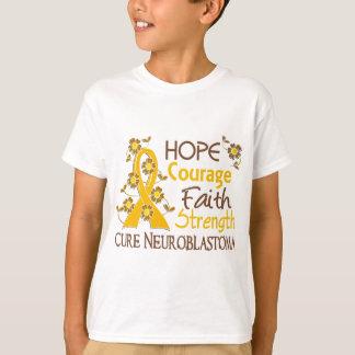 T-shirt Neuroblastome de la force 3 de foi de courage