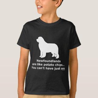 T-shirt Newfoundlands sont comme des pommes chips