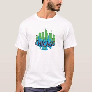T-shirt Newwave d'horizon de Chicago primaire