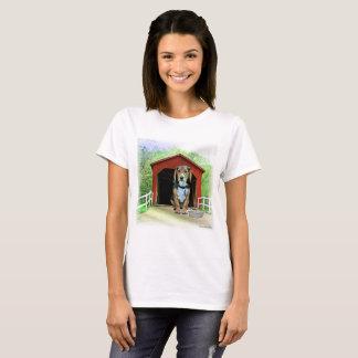 T-shirt Niche comique de pont couvert de crique de Sandy