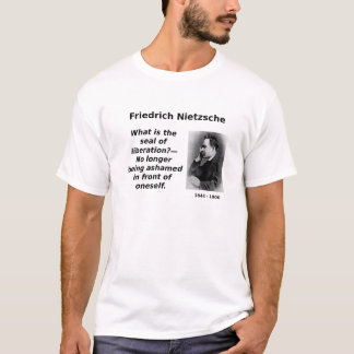 T-shirt Nietzsche, plus honteux