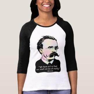 T-shirt Nietzsche - réalité de l'art v.