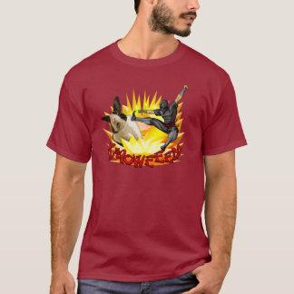 T-shirt Ninja contre la chemise des hommes de lapin (tissu