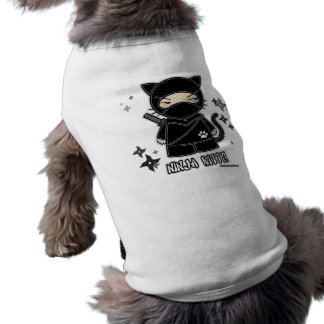 T-shirt Ninja Kitty ! Avec l'habillement d'animal familier