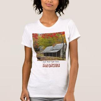 """T-shirt Noé """"bourgeon"""" lorgnent le cabine dans le Smokies"""