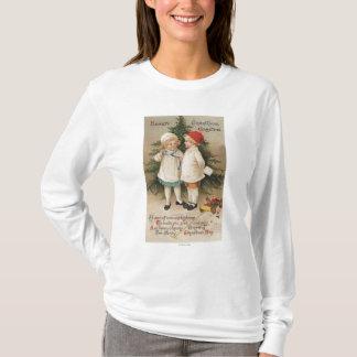T-shirt Noël chaleureux GreetingKids par un arbre