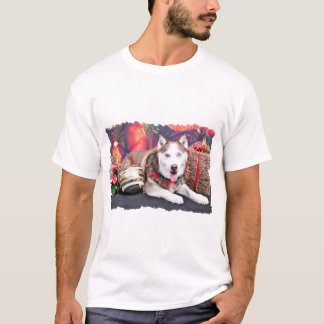 T-shirt Noël - chien de traîneau sibérien - ami