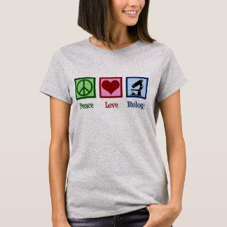 T-shirt Noël de biologie d'amour de paix
