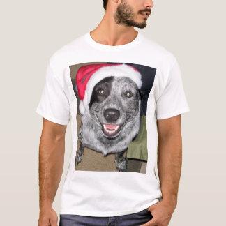 T-shirt Noël de chien de bétail