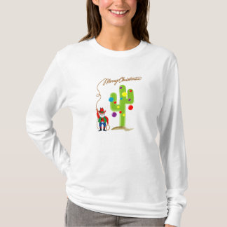 T-shirt Noël de cowboy