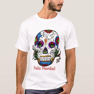 T-shirt Noël de crâne de sucre, Feliz Navidad !