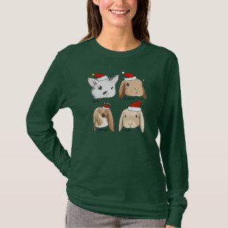 T-shirt Noël de groupe de lapin