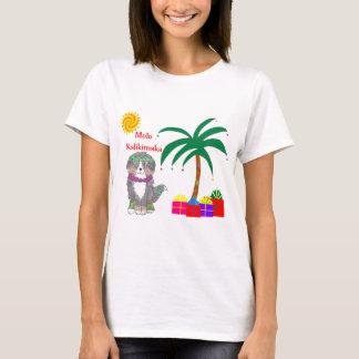 T-shirt Noël de Hawaïen de chien de montagne de Bernese