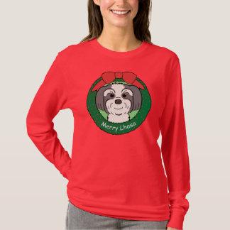T-shirt Noël de Lhasa Apso