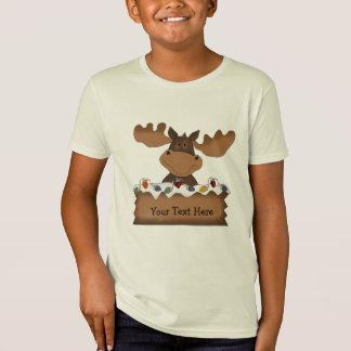 T-Shirt Noël d'orignaux (personnalisable)