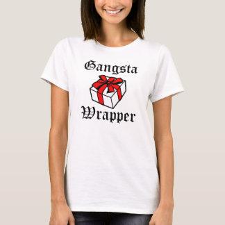 T-shirt Noël drôle d'emballage de Gangsta