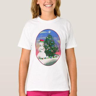 T-shirt Noël du bonhomme de neige