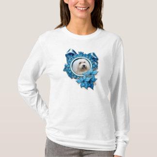 T-shirt Noël - flocon de neige bleu - coton de Tulear