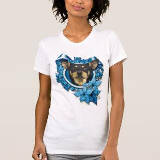 T-shirt Noël - flocon de neige bleu - Kelpie australien