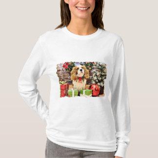 T-shirt Noël - franc-tireur cavalier d'épagneul du Roi