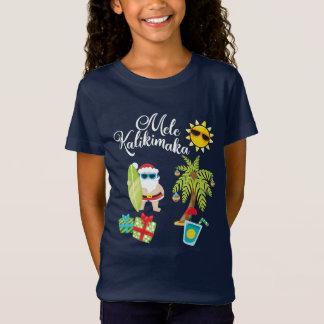 T-Shirt Noël hawaïen. Le père noël Mele Kalikimaka.